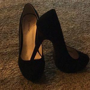 """NEW Black Velvet 6"""" heels"""